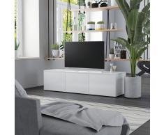 vidaXL Mueble para TV de aglomerado blanco brillante 120x34x30 cm