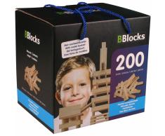 BBlocks Tablones de construcción 200 piezas madera marrón BBLO890101