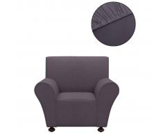 vidaXL funda elástica para sofá de tela jersey poliéster antracita