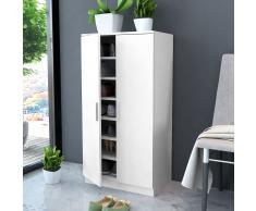 vidaXL Mueble zapatero blanco con 7 estantes
