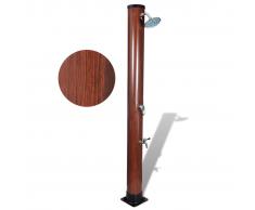 vidaXL Ducha solar para la piscina imitación de madera, 1,96 metros
