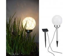 HI Lámpara de bola solar LED de jardín giratoria 15 cm