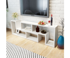 vidaXL Mueble para TV blanca en forma de L