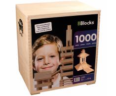BBlocks Tablones de construcción 1000 piezas madera marrón BBLO890202