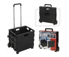 Home&Styling Home&Styling Trolley de transporte de aluminio con caja plegable de PP