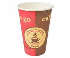 vidaXL Vasos desechables para café 1000 unidades papel 12 oz