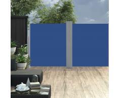 vidaXL Toldo lateral retráctil azul 160x600 cm