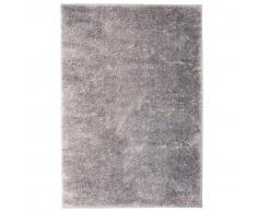 vidaXL Alfombra shaggy peluda 80x150 cm gris