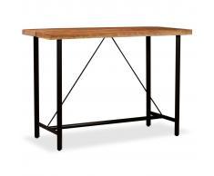 vidaXL Mesa de bar de madera maciza de acacia 150x70x107 cm