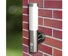 vidaXL 2 Apliques de exterior con detector movimiento, 11 x 35cm