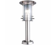 GLOBO Lámpara de pie exterior MIAMI acero inoxidable plateada 3153