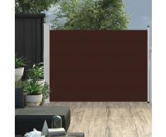 vidaXL Toldo lateral retráctil de jardín marrón 100x500 cm