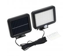 vidaXL Lámpara solar con sensor de movimiento luz LED blanco
