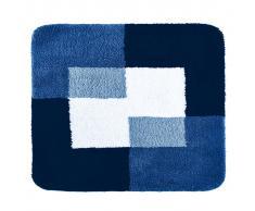 RIDDER Alfombrilla de baño Coins 55x50 cm azul 7103803