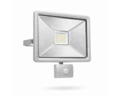 SMARTWARES Foco de seguridad LED con sensor 50 W gris SL1-DOB50