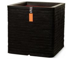 Capi Maceta cuadrada Nature Row 40x40 cm negra KBLRO903