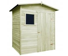 vidaXL Caseta cabaña de jardín madera de pino impregnada FSC 1,5x2 m