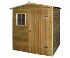 vidaXL Caseta-cabaña de jardín madera pino impregnada 1,5x2 m