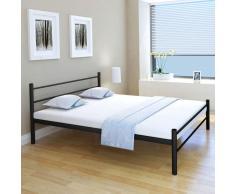 vidaXL Estructura de cama de metal negra 160x200 cm