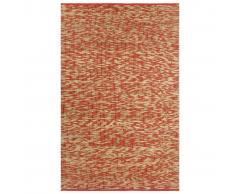 vidaXL Alfombra hecha a mano de yute rojo y natural 80x160 cm