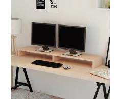 vidaXL Soporte para pantalla de aglomerado 118x23,5x9 cm beige