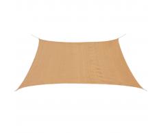 vidaXL Toldo de vela cuadrado 3,6x3,6 m HDPE beige