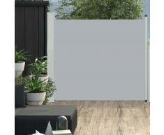 vidaXL Toldo lateral retráctil de jardín gris 100x300 cm