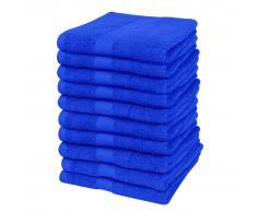 vidaXL Toallas de cortesía 10 uds algodón 500 gsm 30x50 azul klein
