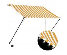 vidaXL Toldo retráctil con LED amarillo y blanco 150x150 cm