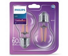 Philips Bombillas LED 2 unidades Classic 6 W 806 lúmenes 929001237271