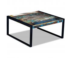 vidaXL Mesa de centro madera maciza reciclada 80x80x40 cm