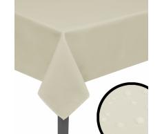 vidaXL Manteles de mesa 5 unidades crema 250x130 cm