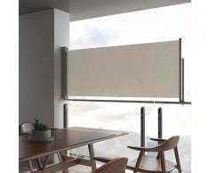 vidaXL Toldo lateral retráctil para patio 100x300 cm crema