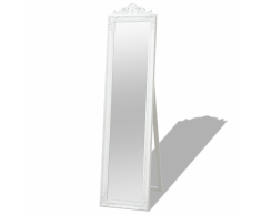 vidaXL Espejo de pie estilo barroco 160x40 cm blanco
