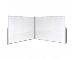 vidaXL Toldo biombo lateral retráctil 180x600 cm blanco crema