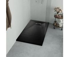 vidaXL Plato de ducha SMC negro 100x80 cm
