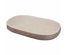 Kerbl Colchón viscoelástico para perro ovalado 100x65 beige/gris 80333