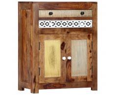 vidaXL Armario auxiliar de madera maciza de sheesham 60x30x75 cm