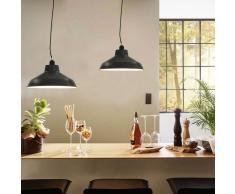 vidaXL Lámparas de techo 2 unidades redondas gris E27