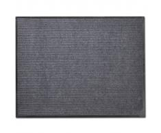 vidaXL Alfombra de entrada de PVC gris, 90 x 120 cm