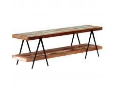 vidaXL Mueble para TV de madera maciza reciclada 160x40x50 cm