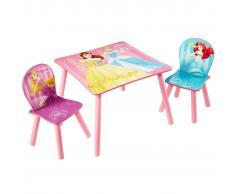 Disney Set 3 piezas mesa y sillas princesas 45x63x63cm rosa WORL660020