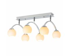 vidaXL Lámpara de techo con 6 bombillas LED G9 240 W