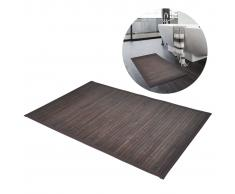 vidaXL Alfombrilla de baño de bambú 60 x 90 cm marrón oscuro