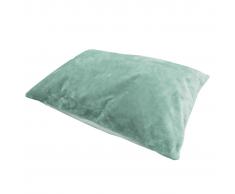 Overseas Almohada para perro pelo y fieltro 100x70 cm azul hielo