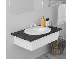 vidaXL Lavabo encastrado de cerámica blanco 51x45,5x19,5 cm