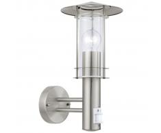 EGLO Lámpara de pared exterior con sensor Lisio 60 W plateado 30185