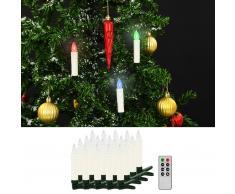 vidaXL Velas LED inalámbricas de Navidad mando distancia 20 uds RGB
