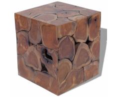 vidaXL Taburete de teca maciza 40x40x45 cm