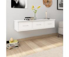 vidaXL Estante con cajones de pared aglomerado blanco 90x26x18,5 cm